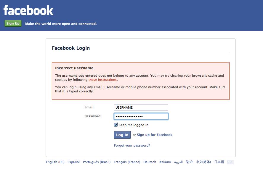 Facebook Login Privacy